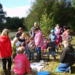 Photo: Pond dipping at Millennium Pond Llanilar, taken by Chloe Griffiths