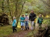 Guided nature exploration in the woodland