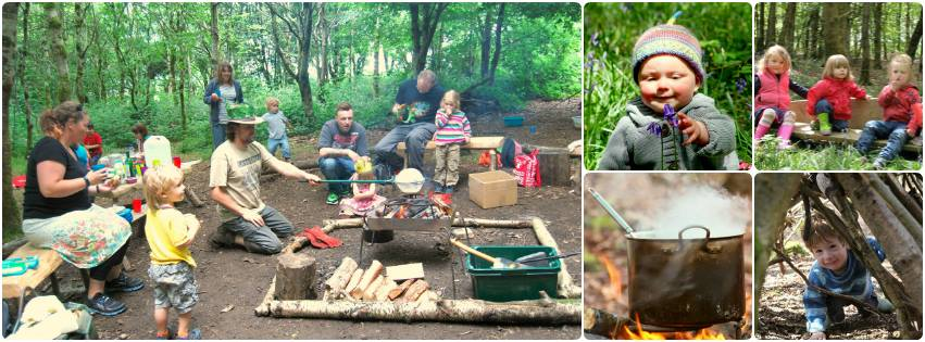 forest kindergarten and parent & toddler group outdoors