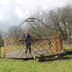Yurt Raising at Denmark Farm Eco Cmpsite