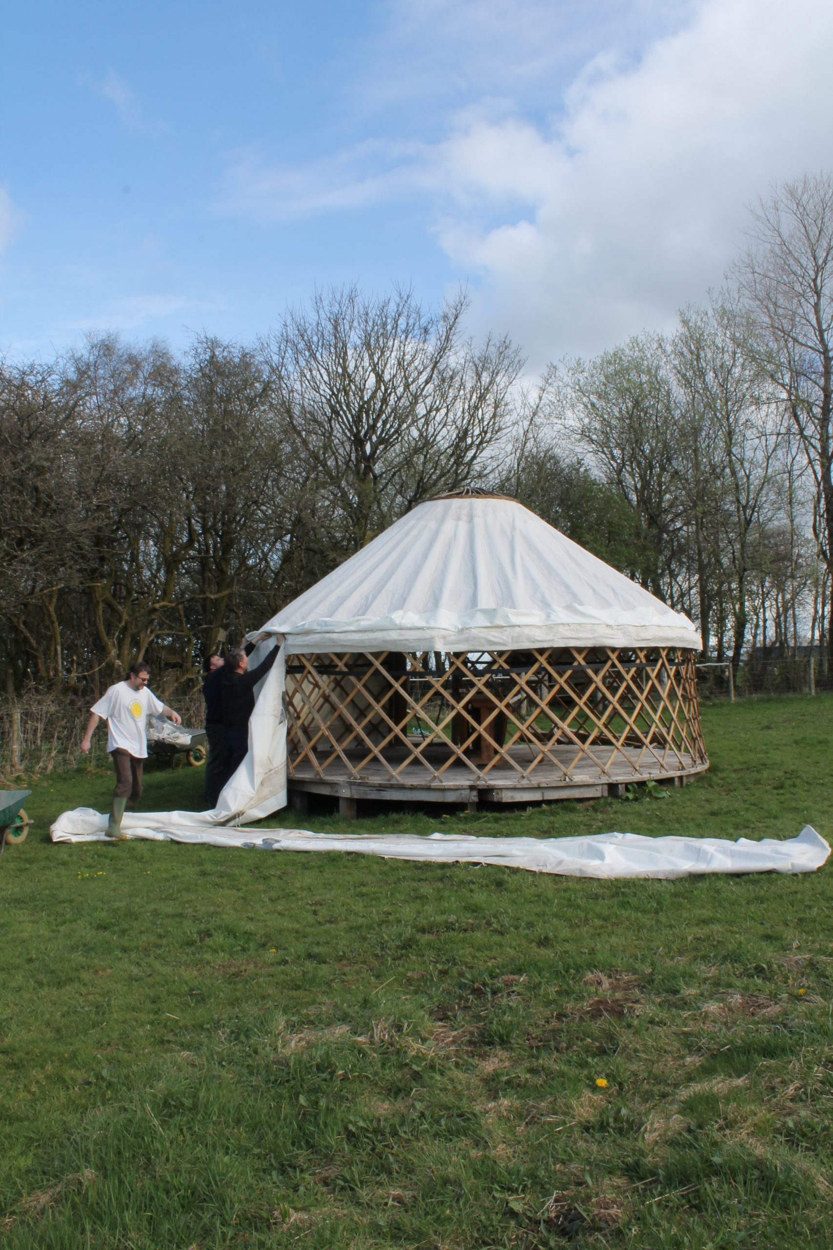 Yurt Raising at Denmark Farm Eco Cmpsite