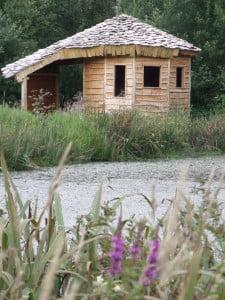 Lakeside shelter at Denmark farm