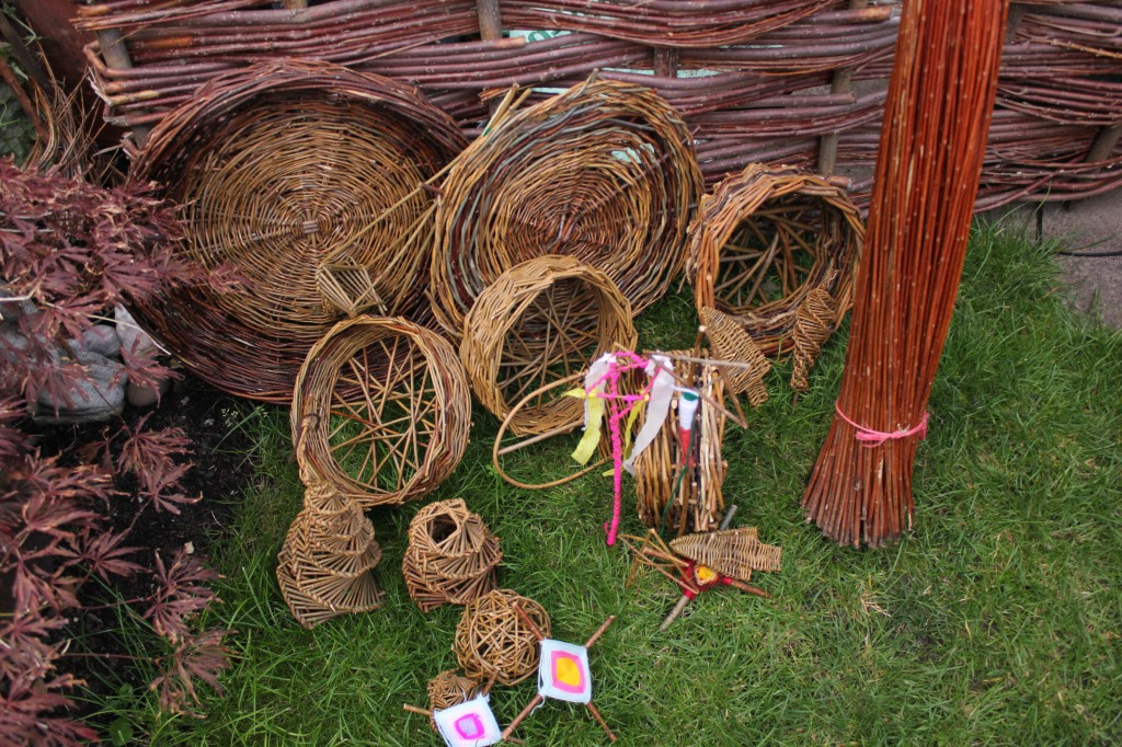 Rustic basket weaving