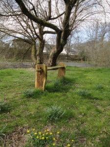 Carved bench (WWYL)