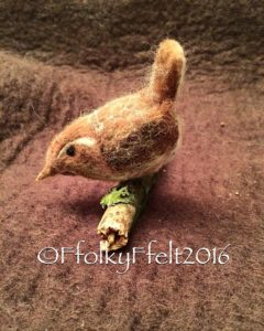 needle felting bird