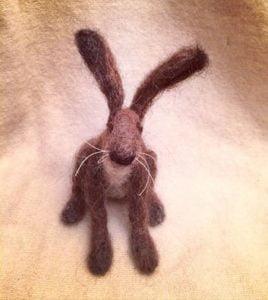 needle felting hare
