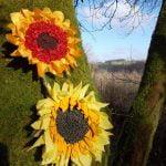 rag rug flower