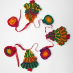 festive wool decorations