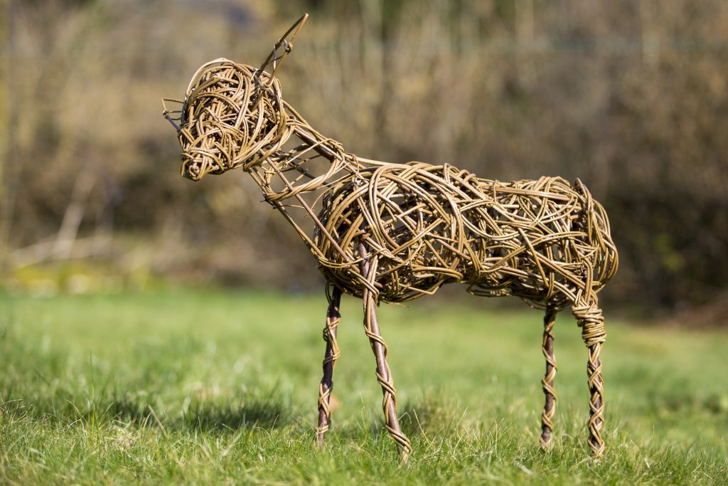 willow animal sculpture