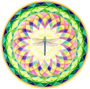 mandala painting dragonfly