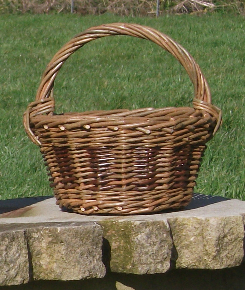 willow weaving posy basket