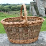 Willow Weaving - Oval Shopping Basket